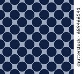 seamless pattern with polka dot....   Shutterstock .eps vector #689466541