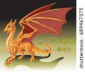 t shirt dragon style background.... | Shutterstock .eps vector #689467375