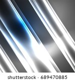 energy lines  glowing waves in... | Shutterstock .eps vector #689470885