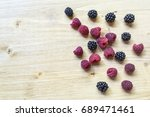top view of summer fresh... | Shutterstock . vector #689471461
