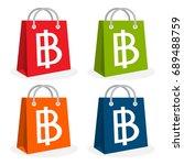 icon logo for shopping business.... | Shutterstock .eps vector #689488759