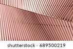 pattern of aluminum... | Shutterstock . vector #689500219