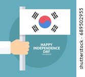 south korea happy independence...   Shutterstock .eps vector #689502955