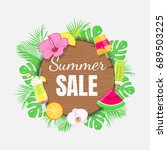 summer sale background with... | Shutterstock .eps vector #689503225
