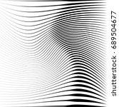 geometric black and white... | Shutterstock . vector #689504677