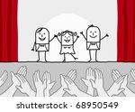 theater show   clapping hands | Shutterstock .eps vector #68950549