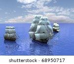 Three Ships In The Sea