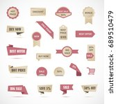 vector stickers  price tag ... | Shutterstock .eps vector #689510479