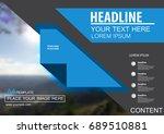 abstract vector modern cover... | Shutterstock .eps vector #689510881