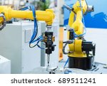 industrial machine and factory... | Shutterstock . vector #689511241
