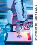 robotic machine vision system... | Shutterstock . vector #689511271