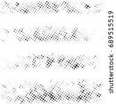 halftone dots texture... | Shutterstock .eps vector #689515519
