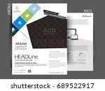 vector flyer  brochure ... | Shutterstock .eps vector #689522917