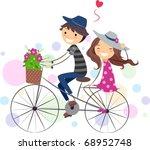 illustration of a stick figure... | Shutterstock .eps vector #68952748