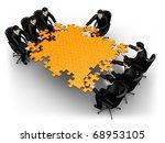 render business team work...   Shutterstock . vector #68953105