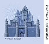 north of the castle. vector... | Shutterstock .eps vector #689533915
