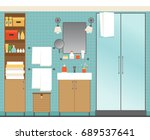 illustration with modern... | Shutterstock .eps vector #689537641