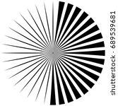 circular  radiating abstract... | Shutterstock . vector #689539681