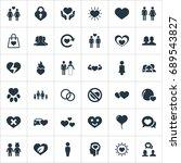vector illustration set of... | Shutterstock .eps vector #689543827