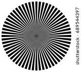circular pattern of radial ... | Shutterstock . vector #689544397