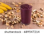 brazilian acai in the cup over... | Shutterstock . vector #689547214