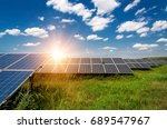 solar panels  photovoltaic  ...   Shutterstock . vector #689547967