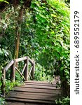 small wooden bridge in the...   Shutterstock . vector #689552179