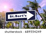 st bart's arrow sign. tropical... | Shutterstock . vector #689554249