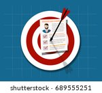human resources management...   Shutterstock .eps vector #689555251
