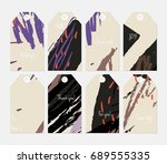 hand drawn creative tags.... | Shutterstock .eps vector #689555335