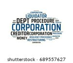 corporation   image with... | Shutterstock . vector #689557627