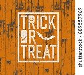 happy halloween logotype on... | Shutterstock .eps vector #689557969