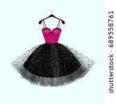 vector fashion illustration.... | Shutterstock .eps vector #689558761