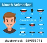 lip sync collection for... | Shutterstock .eps vector #689558791