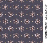 endless christmas pattern.... | Shutterstock .eps vector #689565019