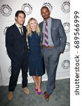 Small photo of Beverly Hills, CA, USA; October 16, 2012; Adam Pally, Elisha Cuthbert and Damon Wayans Jr arrive to the 'An Evening with Happy Endings & Don't Trust the B---- in Apartment 23' at the Paley Center .