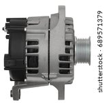 Small photo of car alternator isolated in white background
