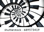 unusual abstract piano keyboard ... | Shutterstock . vector #689573419