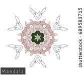 floral symmetrical geometrical... | Shutterstock .eps vector #689583715
