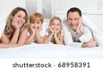 parents and children laying in... | Shutterstock . vector #68958391