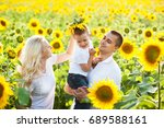 a happy family plays in... | Shutterstock . vector #689588161