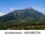 mountain of merapi | Shutterstock . vector #689588734