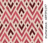 seamless ikat ogee pattern as... | Shutterstock .eps vector #689591197