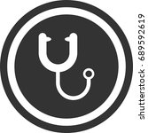 stethoscope icon   circle sign... | Shutterstock .eps vector #689592619