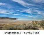 view of great salt lake from... | Shutterstock . vector #689597455