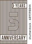 5 years anniversary logo.... | Shutterstock .eps vector #689598844
