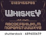 vintage font alphabet... | Shutterstock .eps vector #689600659