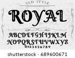 font.alphabet.script.typeface...   Shutterstock .eps vector #689600671