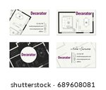 business card for an architect | Shutterstock .eps vector #689608081