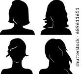 women heads silhouettes | Shutterstock .eps vector #689611651
